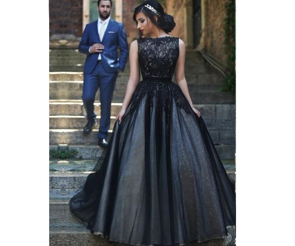 Floor Length Evening Dresses Ball-gown Evening Dresses Sleeveless Evening Dresses