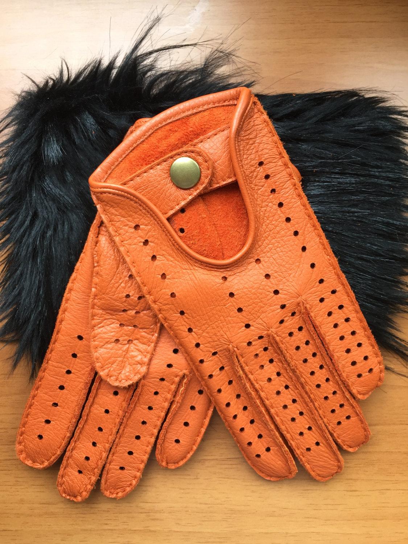 Mens Hand-sewn Deerskin Leather Gloves