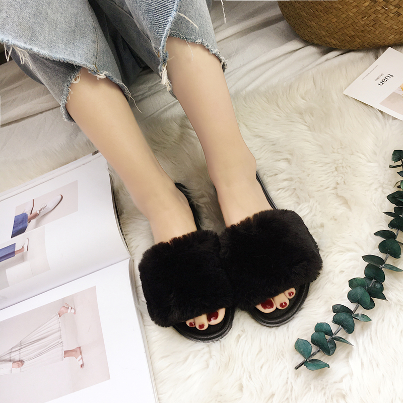 Soft Bottom Plush Home Slippers