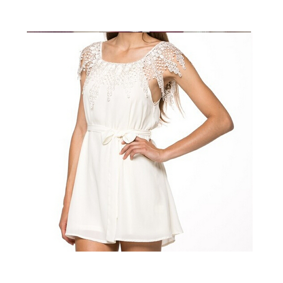 5be3cac296a Strapless Off-Shouder White Lace Dress on Storenvy