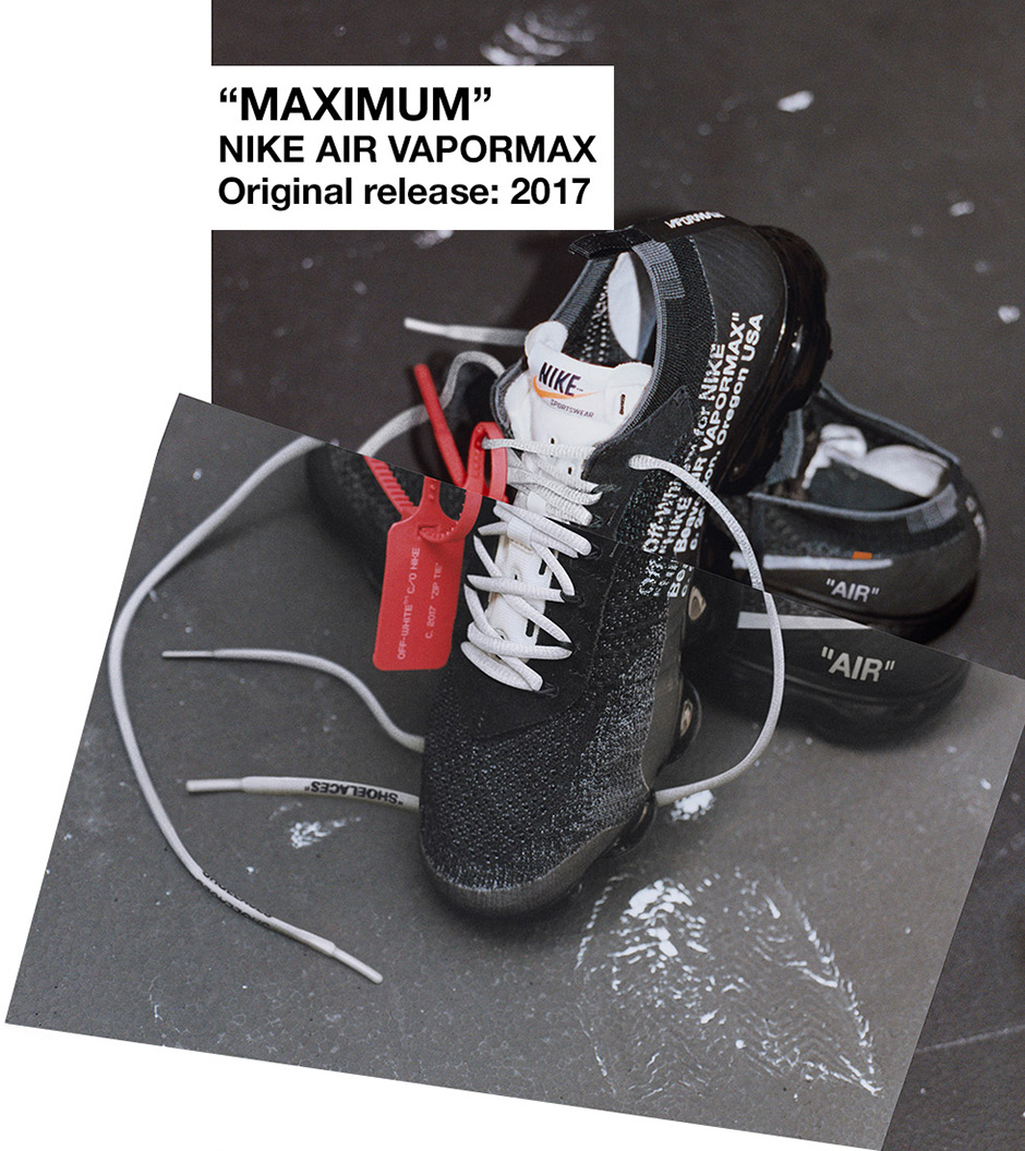 452cd3584a40 Off-White x Nike Air VaporMax Color Black White-Clear Style Code ...