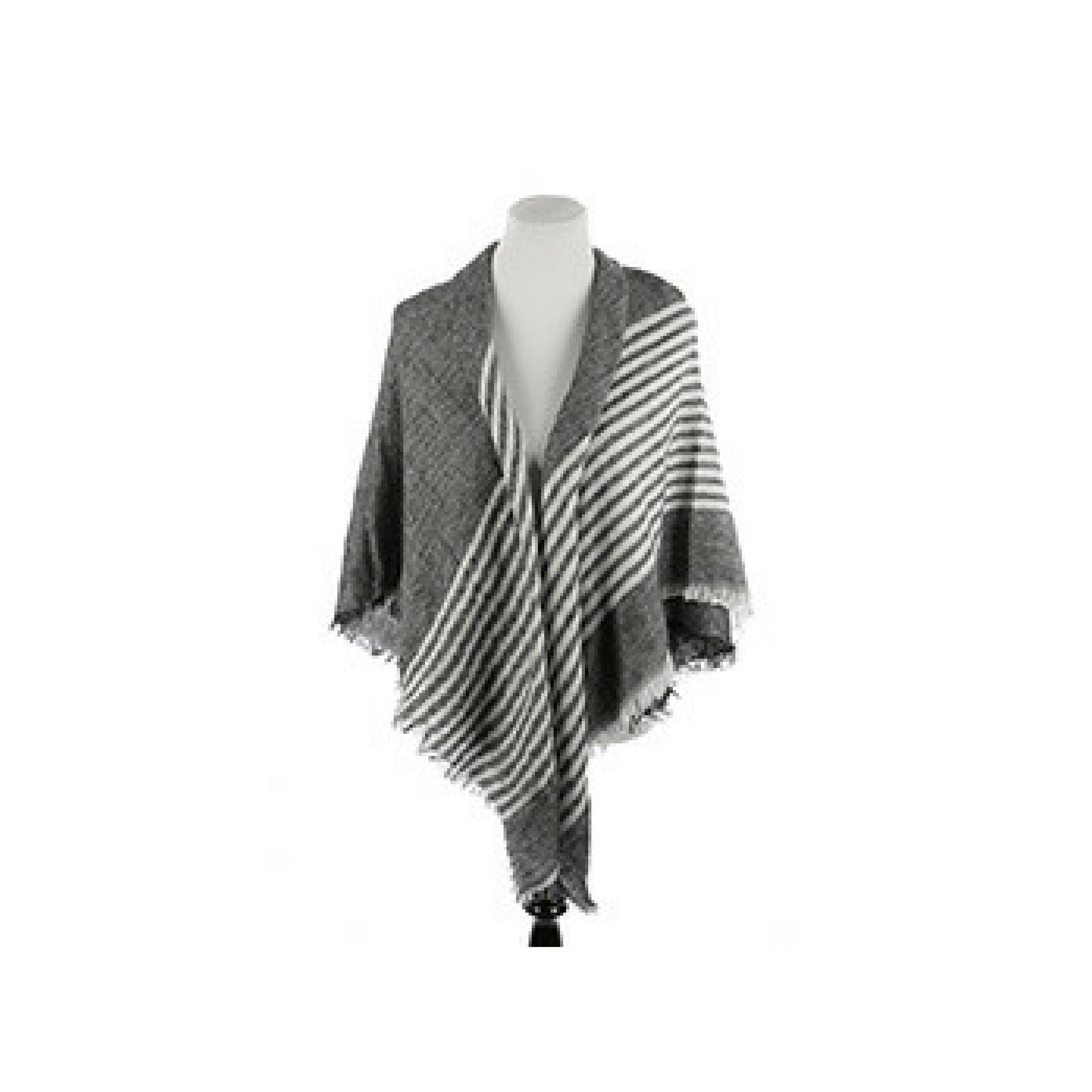 Stripe Soft Yarn Blanket Scarf