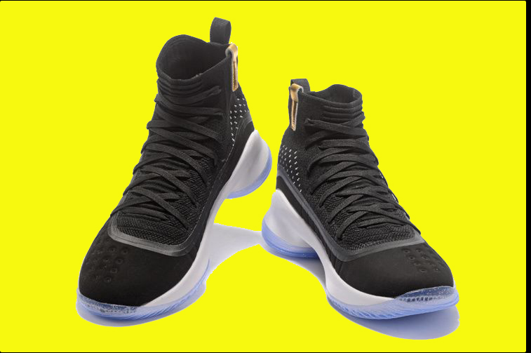 2017 Under Armour Curry 4 Gblack Whiteg For Sale Mens Basketball Sneaker Size 7-12