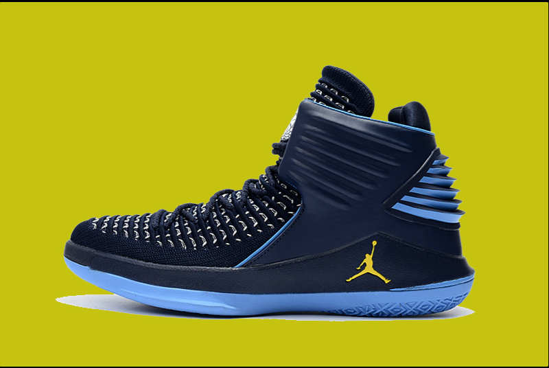 Cheap Air Jordan 32 Gmarquetteg Pe Blue Yellow For Sale Mens Basketball Sneaker Size 7-13