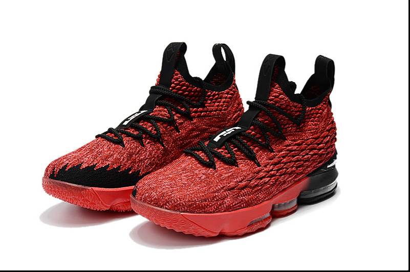 Nike Lebron 15 Pe Red Black For Sale Mens Basketball Sneaker Size 7-12