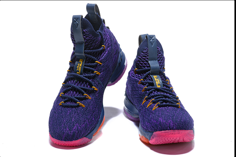 Nike Lebron 15 Purple Rainbow For Sale Mens Basketball Sneaker Size 7-12