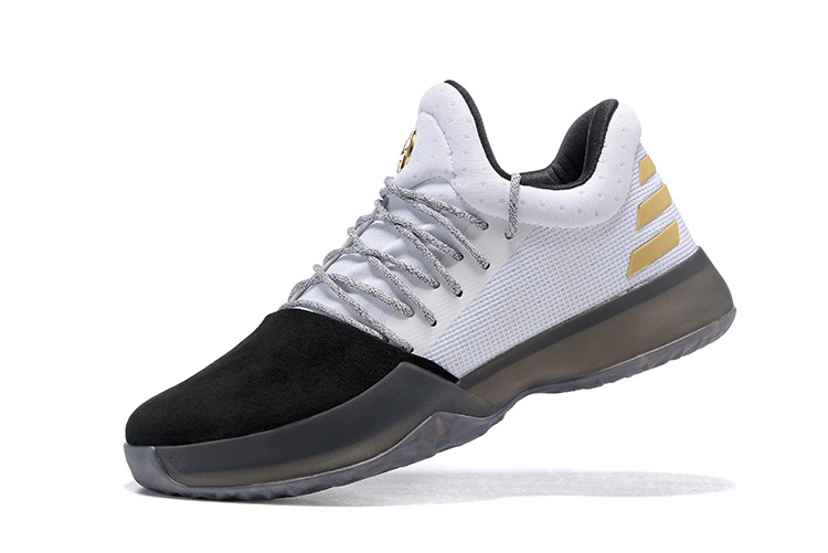 Fashion Adidas Harden Vol.1 Basketball Shoes Black white Men s Sport ... 3eb49e736