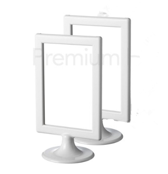 2 PACK TOLSBY Double-Sided White Gloss Plastic Picture Frames ...