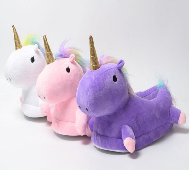 Led Unicorn Plush Slippers