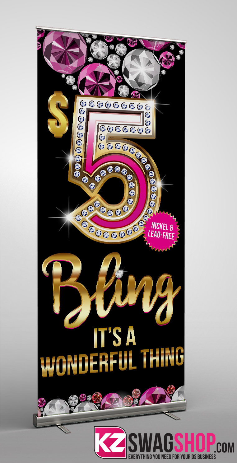 Image of $5 Bling - RETRACTABLE BANNER - 5