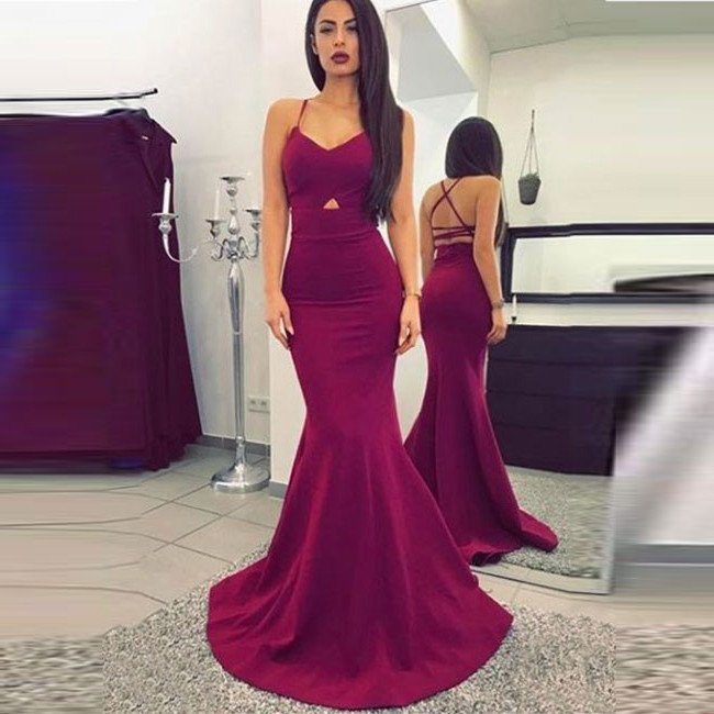 Burgundy Sweetheart Formal Gownmermaid Prom Dressevening Dress