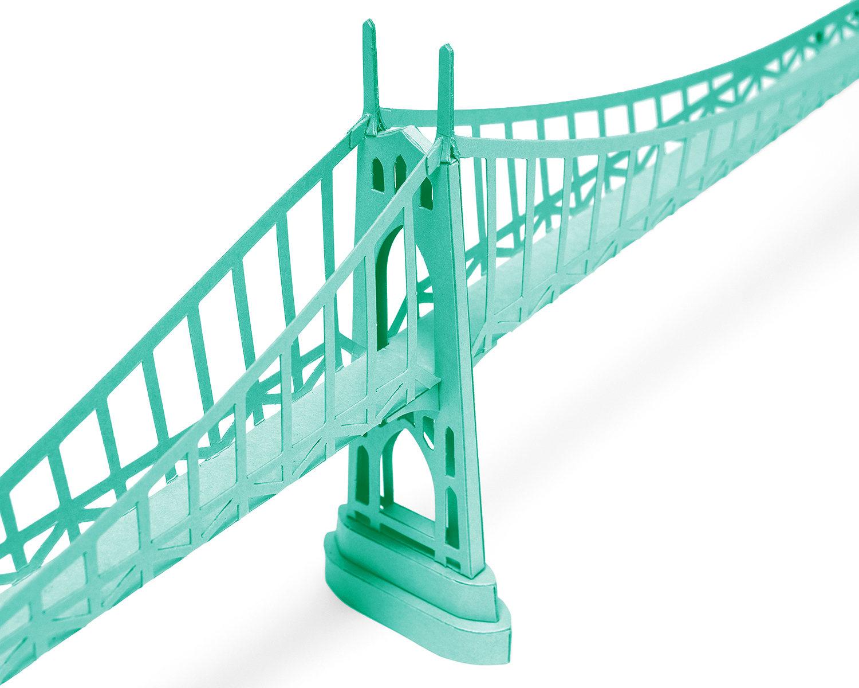 St Johns Bridge Paper Model Craft Kit from Paperlandmarks