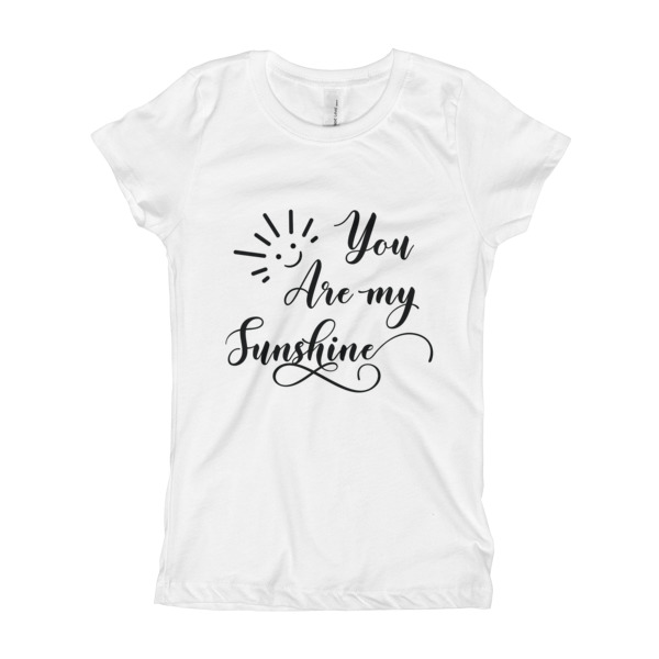 e0829ff89bea You Are My Sunshine | Girl's T-Shirt | White Color | on Storenvy