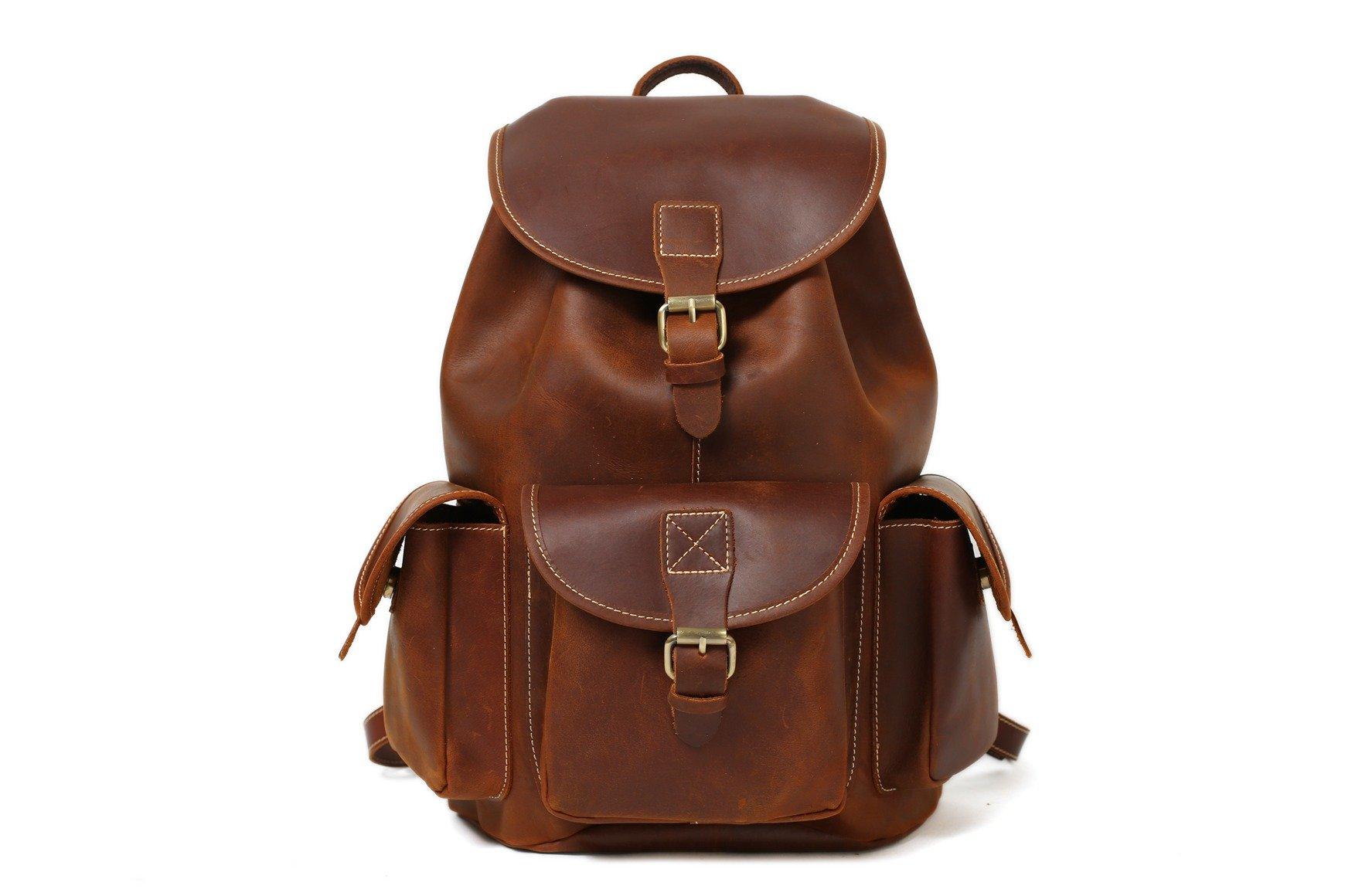 Handmade Vintage Leather Backpack / College Backpack /School Backpack 8891