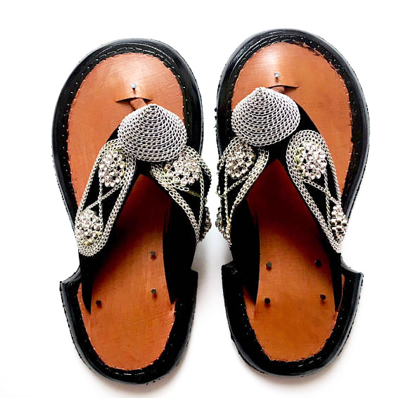 175a65f7b85ed Men s Traditional Handmade Leather Slippers Ghanaian Men s Shoe Sandals  Slipper