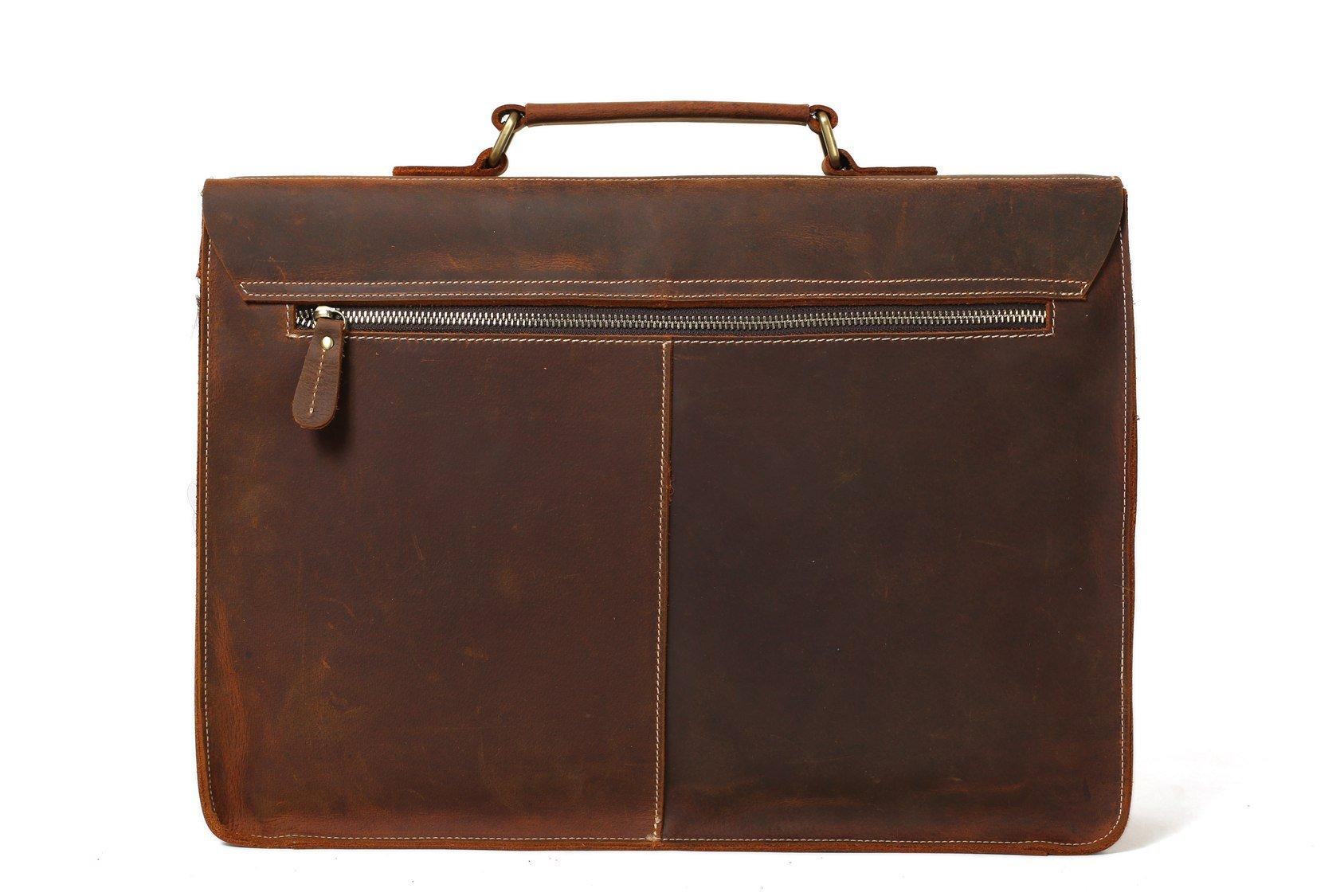 d876f569825a 15   Vintage Leather Briefcase Men Messenger Bag Laptop Bag 0344 on ...