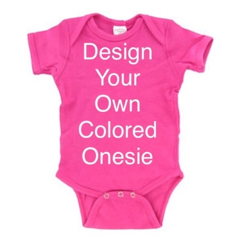 98768e69ade6 Custom Colored Baby Onesie on Storenvy
