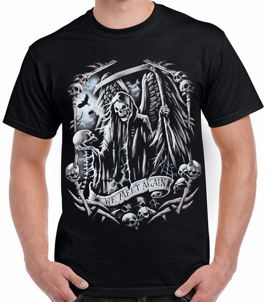 Storenvy coupon: Urban - We Meet Again Skeleton Goth Grim Reaper Death  Black T-Shirt
