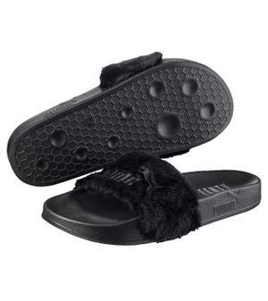 official photos 02e91 5f054 PUMA FENTY FUR SLIDES (BLACK) sold by De'Black Royal