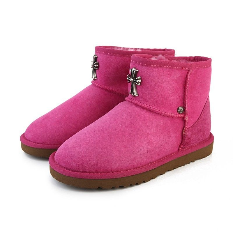 2017 New Ugg Women Crowheart Mini Boots 5854 Rose For Sale