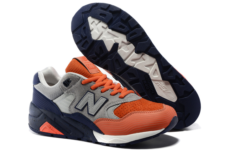 Mens New Balance 580 Shoes Orange/grey/navy Mrt580bo