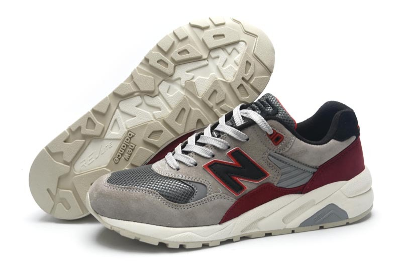 Mens New Balance 580 Elite Edition Shoes Grey/red