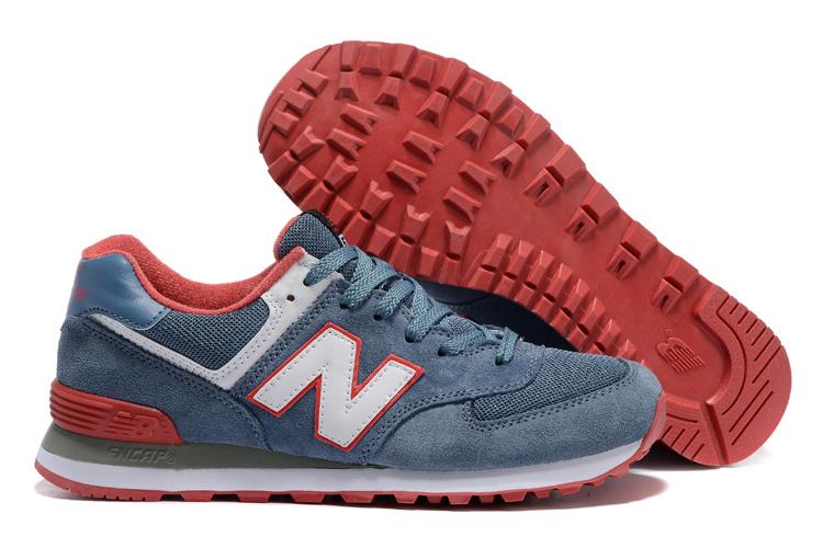 Mens New Balance 574 Sneakers Light Blue/red/white Ml574cpi