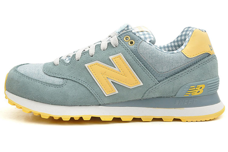 Mens New Balance 574 Sneakers Grey/yellow Ml574vts