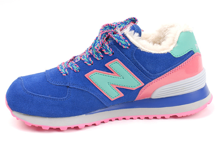 Womens New Balance 574 Sneakers Blue/pink/jade Green Wl574bfp