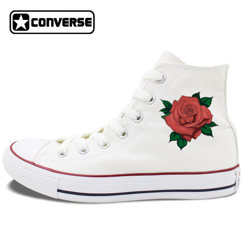 Red Rose Shoes Men Women Converse All