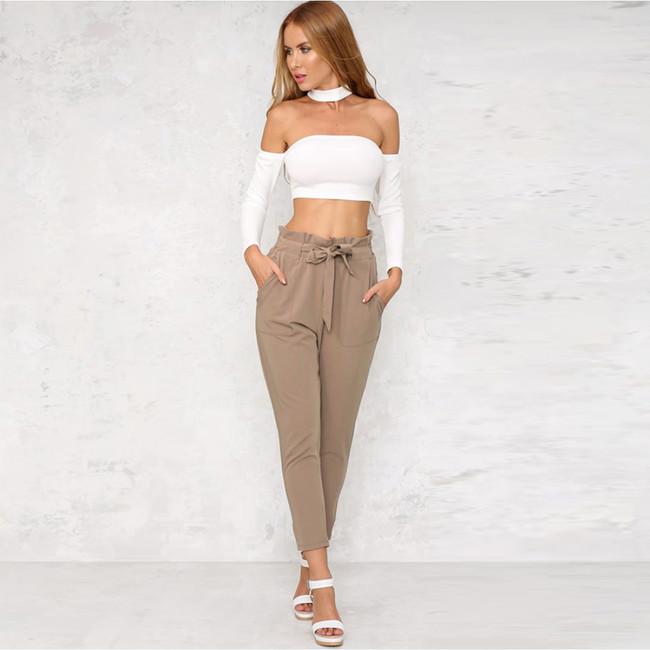 Worldwide Womens Khaki Long Pants
