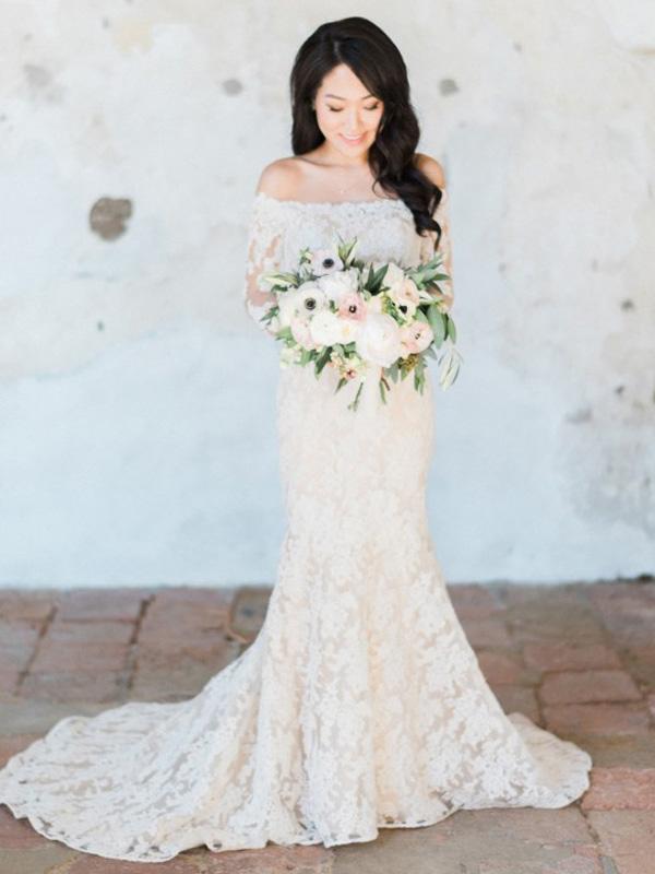 cded03fe5a Custom Made Lace Bridal Dress