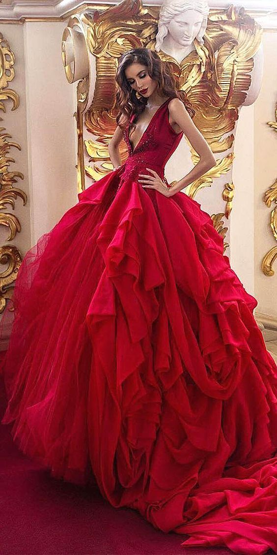 Quinceanera Dress,red Graduation Dresses, Tulle prom Dress, Party ...
