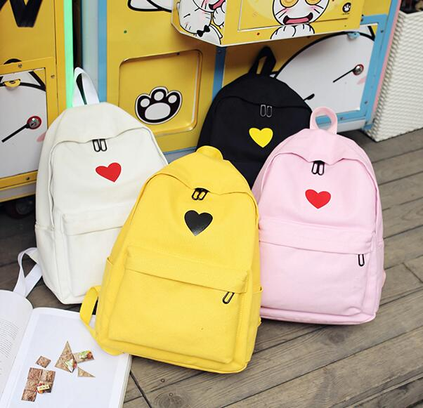 Free DHL Shipping Lovely Heart Backpack With Purse (80593605 cuteunicorn) photo