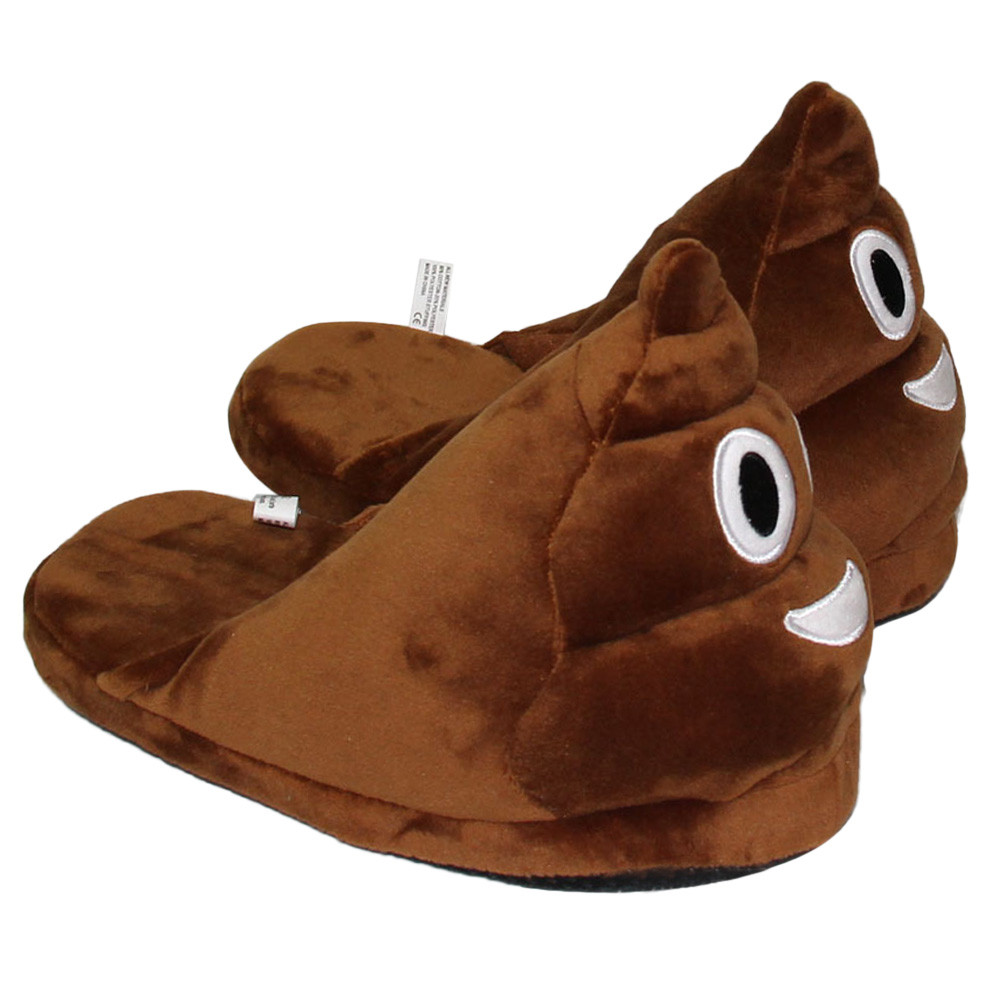 Winter Men Slippers Brown Fashion Plush Male Indoors Slippers