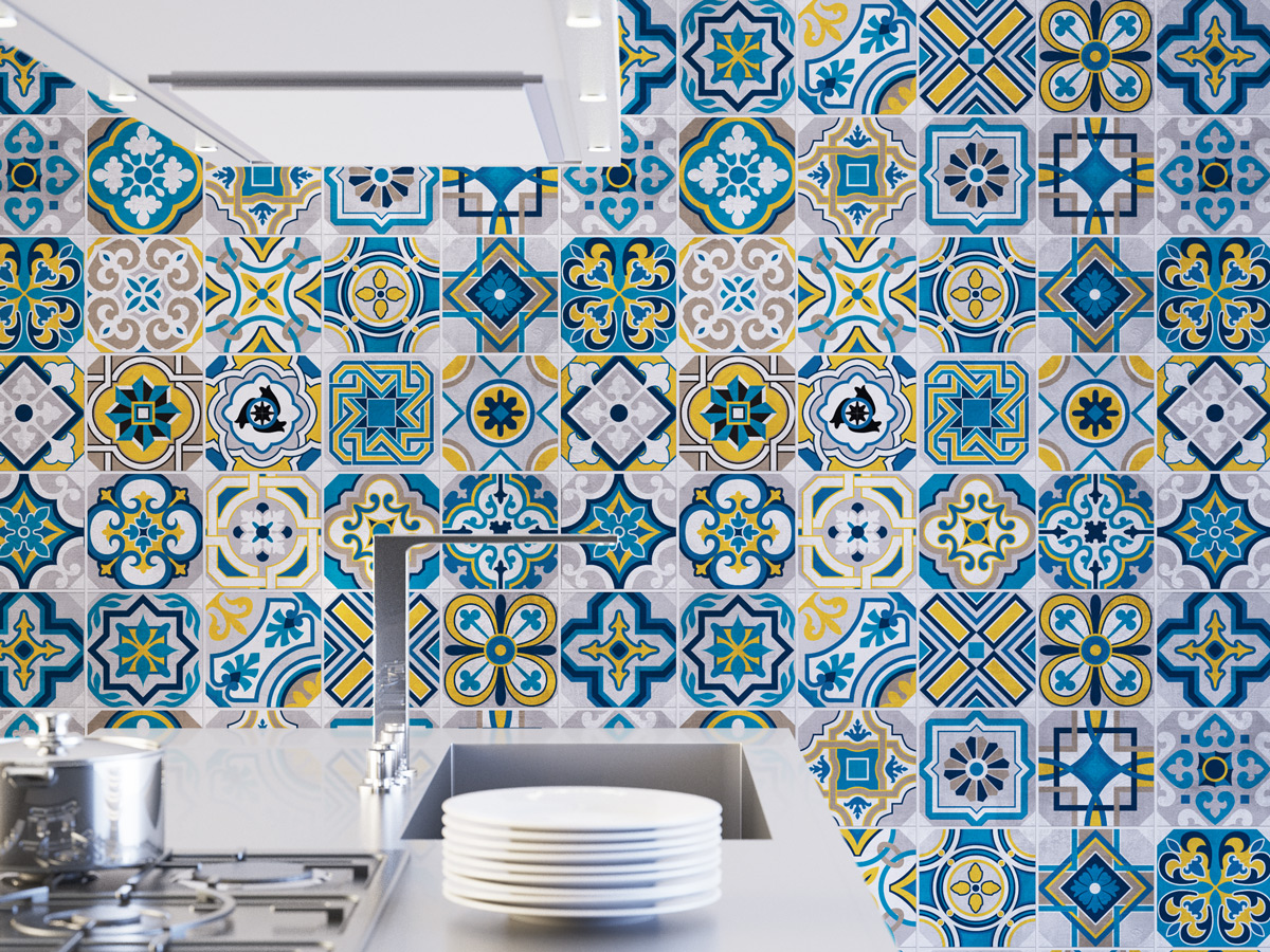Colorful Tiles Wall Tiles Floor Tiles Tile Decals Flooring