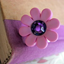pale pink flower ring