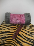 Image of Pink hand Muff lined in Faux Fur