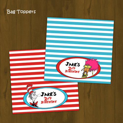 graphic regarding Printable Bag Toppers called Dr. Seuss Birthday Printable Bag Toppers towards Splashbox Printables