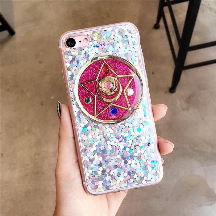 innovative design ee27d dc805 Sailor Moon glitter silicone iPhone case from Dejavu Cat
