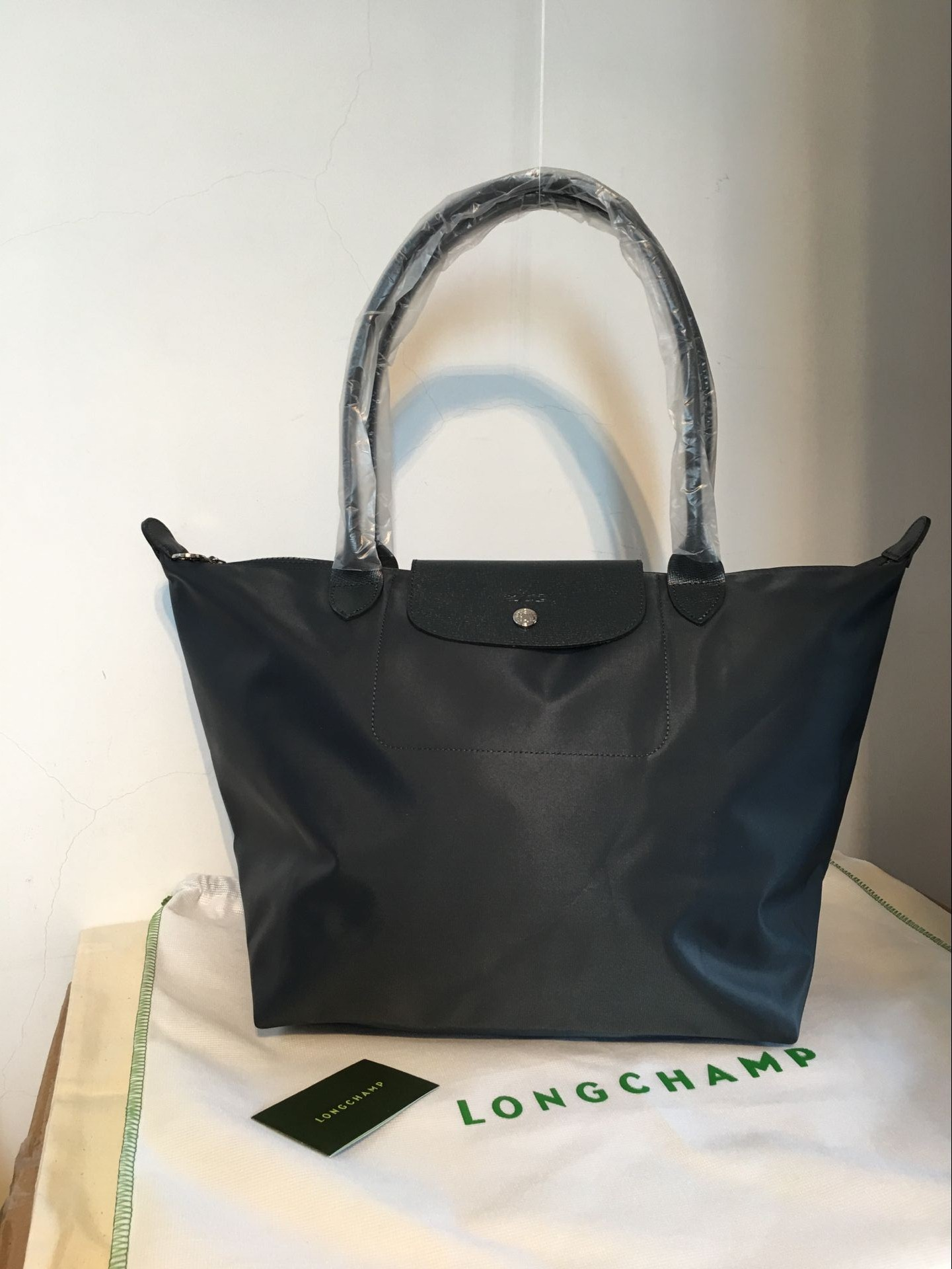 fdc226b8b6ec Authentic Longchamp Le Pliage Neo Large Tote Bag Graphite 1899578897 Free  shipping on Storenvy