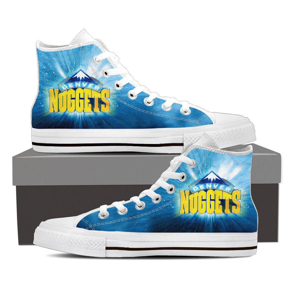 Denver Nuggets High Top White Canvas Shoes For Women On Storenvy