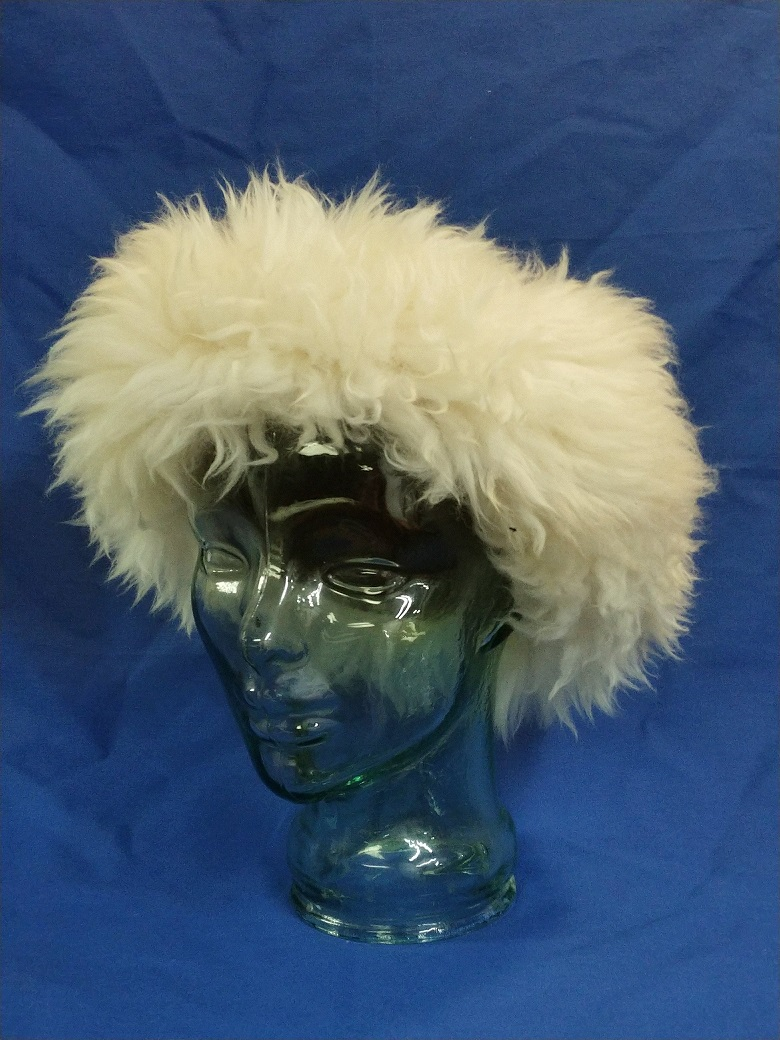 Image of 6 Panel Wool Hat with Reclaimed Sheep Trim