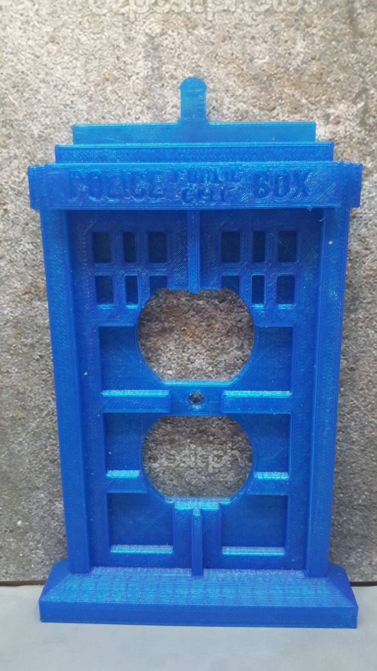 Image of Tardis Dr Who Outlet Cover