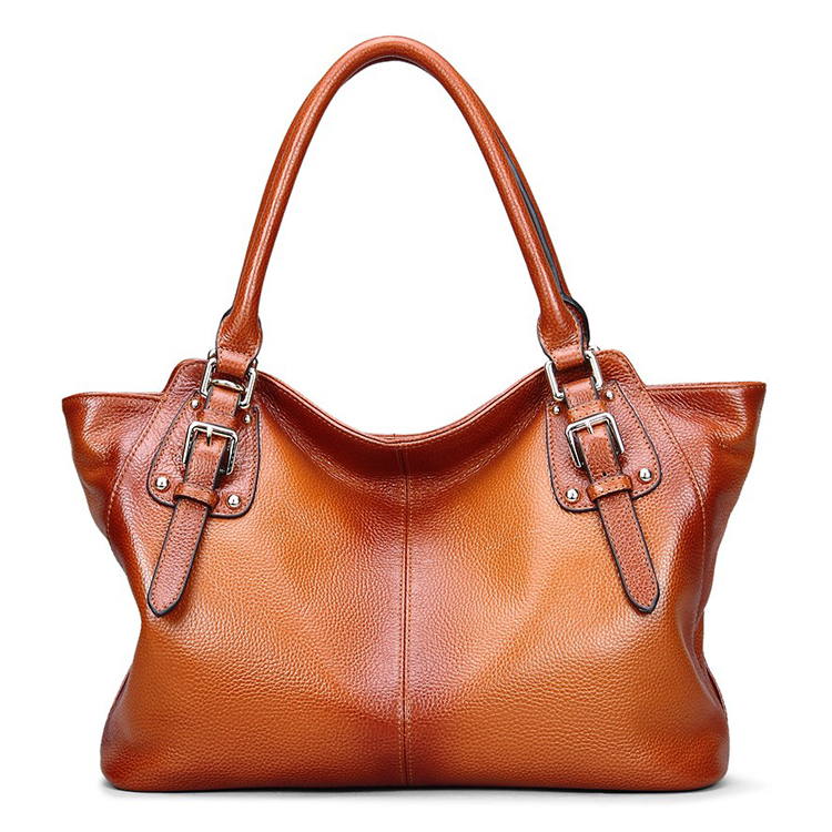 Genuine Leather Top Handle Satchel Handbag Tote Shoulder Bag Purse Crossbody Bag for Women (45775551 SL9456) photo