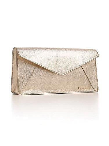 Victoria's Secret Gold Metallic Clutch Purse (84398595 SKZ1788) photo