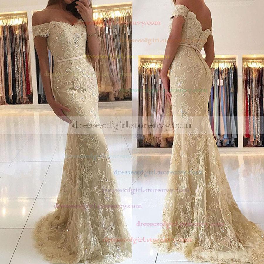 4254a63b7c91 Long Prom Dresses,Trumpet/Mermaid Off-the-shoulder Formal Dresses,Sweep ...