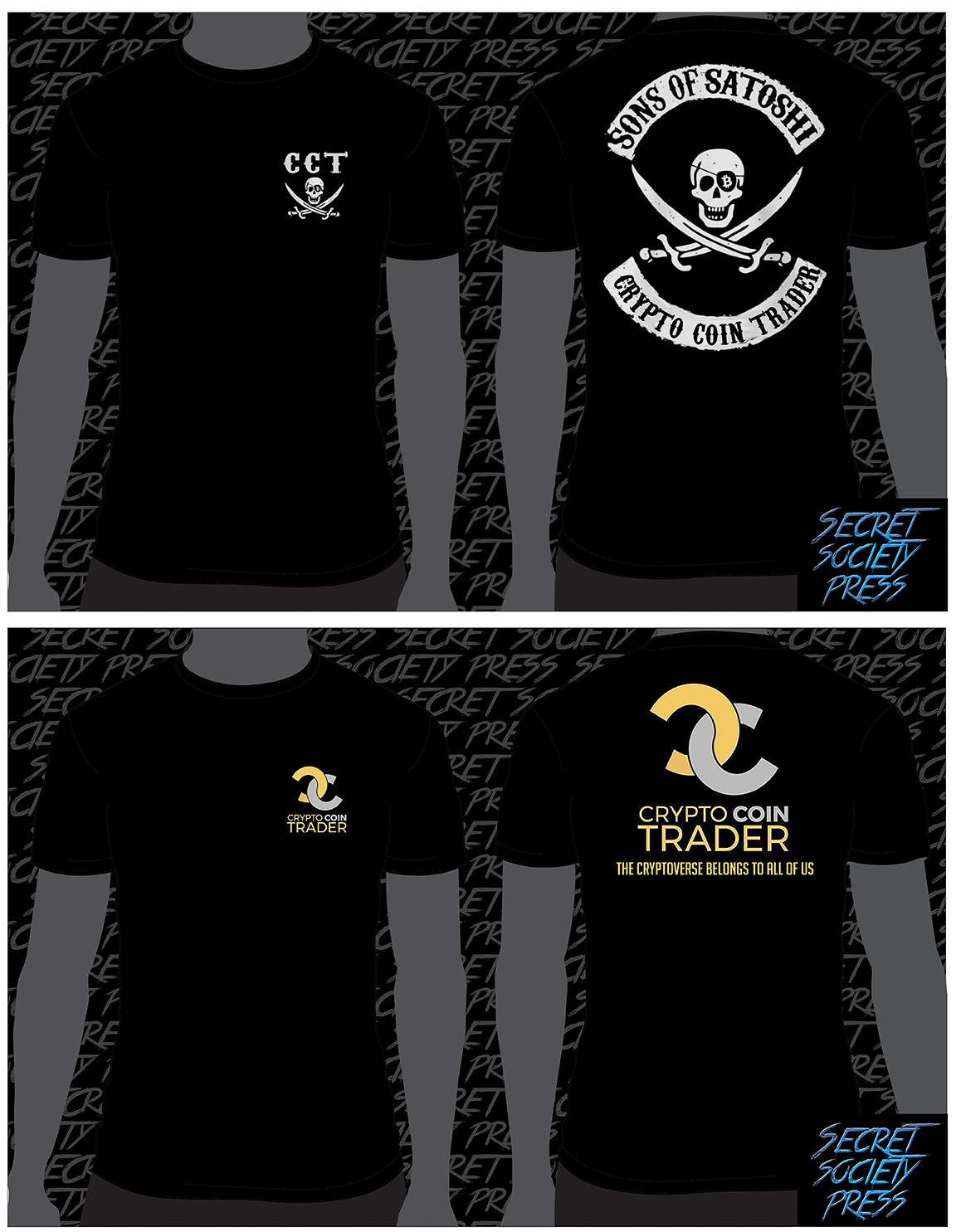 Crypto Coin Trader - 2 Shirt Deal sold by Secret Society Press