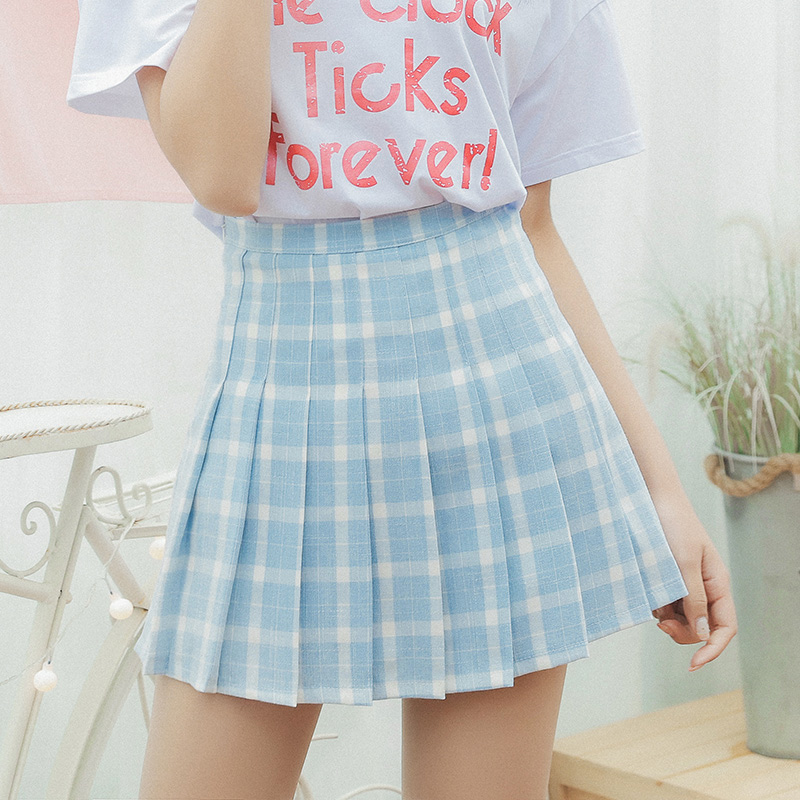 79e8eb2ab0 FREE DHL Shipping Pastel Blue High Waist Pleated Skirt on Storenvy