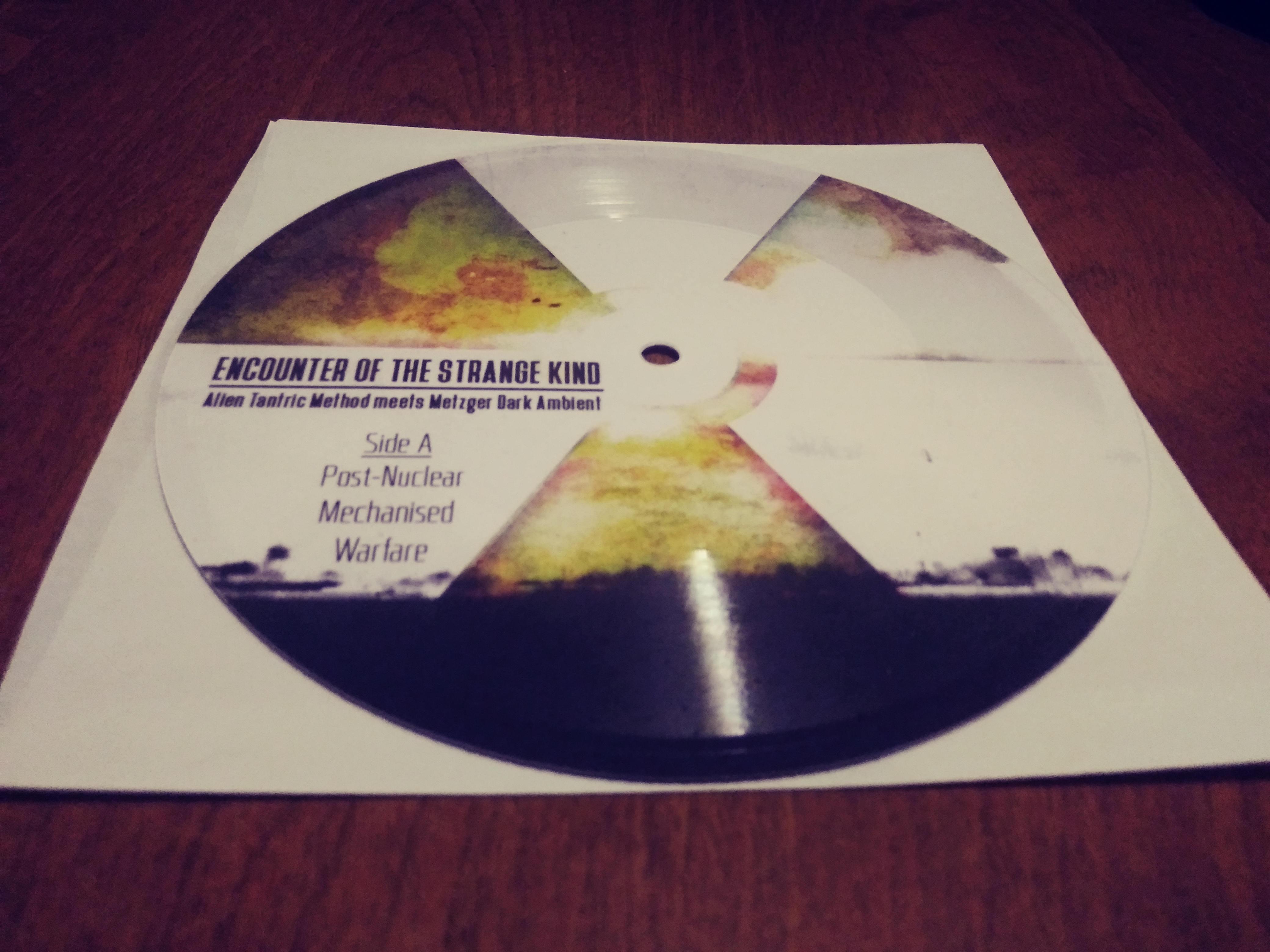 Lathe Cut Vinyl Record 7 inch Metzger & Alien Tantric Method from Metzger  Dark Ambient